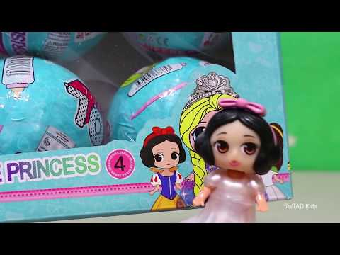 Fake LOL Disney Princesses ! Toys and Dolls Fun for Kids | SWTAD