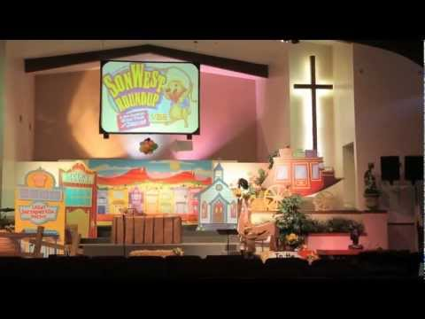 Decorating for Assembly Time - SonWest Roundup VBS