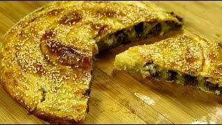 Рецепт очень Вкусного пирога Мясной Пирог Улитка Смачная Выпечка