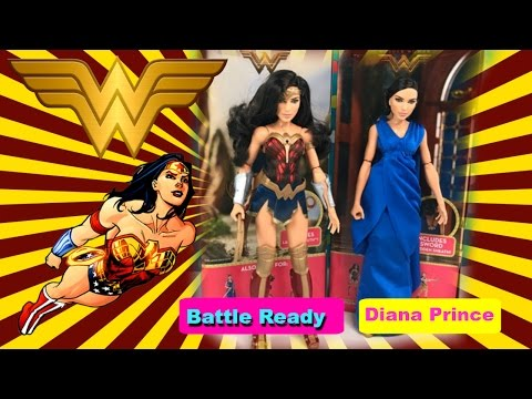 Wonder Woman Dolls - Diana Prince and Battle Ready | Toys Galaxy