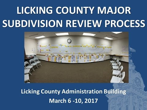 Licking County Major Subdivision Review Kaizen Event