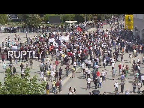 LIVE: Protest against border demarcation deal with Montenegro to storm Pristina