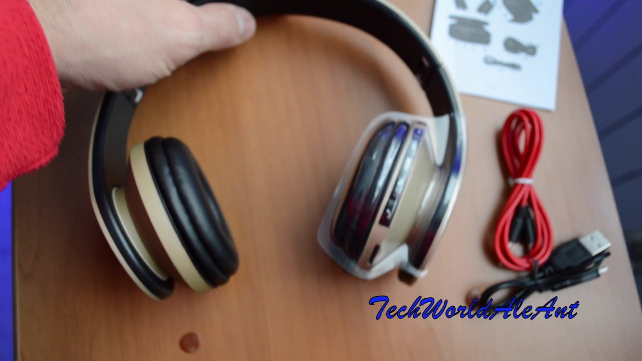 JINCHAO Cuffie Wireless Bluetooth 4.0 con RADIO FM E SCHEDA SD - UNBOXING    REVIEW 3657c639fbec