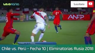 Chile vs. Perú 2-1| Eliminatorias Rusia 2018 - Fecha 10 - Resumen y Goles en HD 11/10/2016