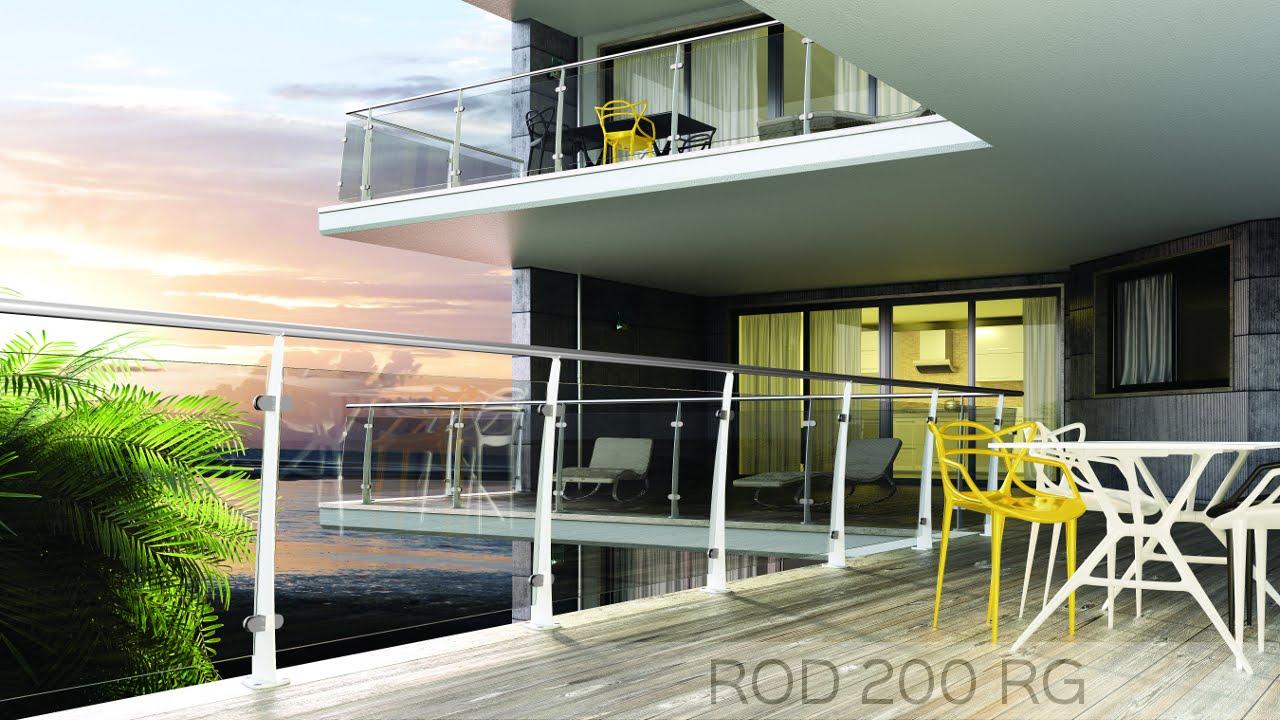 Ringhiere per scale ringhiere per balconi mobirolo rod 200 rg youtube - Ringhiere per interni ...