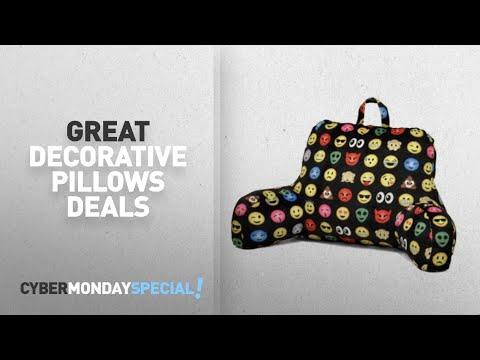 Walmart Top Cyber Monday Bedding Decorative Pillows Deals: Emoji All Over Backrest Pillow