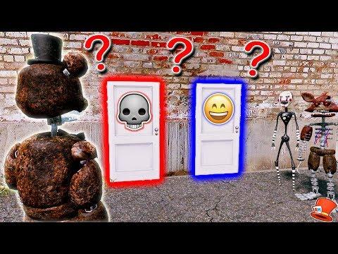 WILL IGNITED FREDDY CHOOSE THE LIFE OR DEATH DOOR? (GTA 5 Mods For Kids FNAF RedHatter)