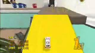 Mini Desktop Racing (Wii, PS2) - Gameplay