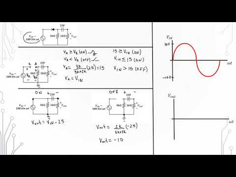Circuit analysis with ideal diodes