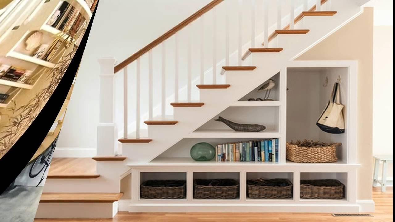 Under Stairs Space Design Ideas : Understair Bookcase and Display - Room Ideas - YouTube