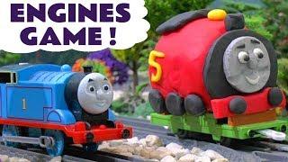 Thomas & Friends Toy Trains Prank - Play Doh Animation Superhero Mashems & Kinder Surprise TT4U