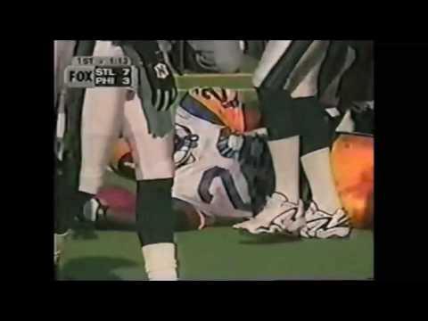 Marshall Faulk vs Eagles 1999 Highlights