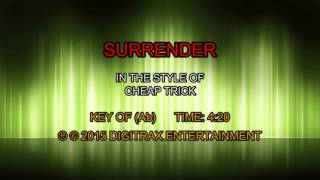 Cheap Trick - Surrender (Backing Track)
