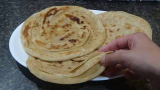 layered paratha , baldar paratha (easy three ways)