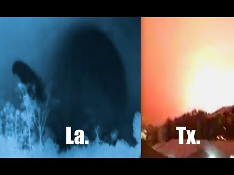 Strange sky events recorded in Texas AND Louisiana on night of snowstorm!