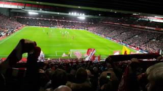 You'll never walk alone ליברפול נגד ווסטהאם 11.12.2016