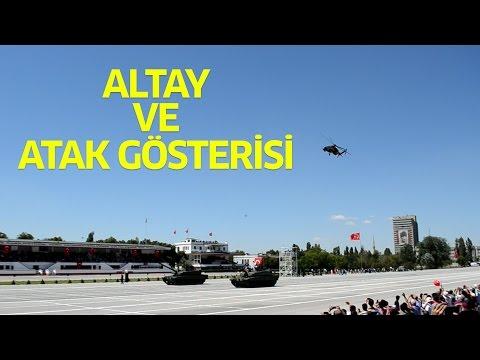 Altay Tören Geçişi ve T129 ATAK Gösterisi
