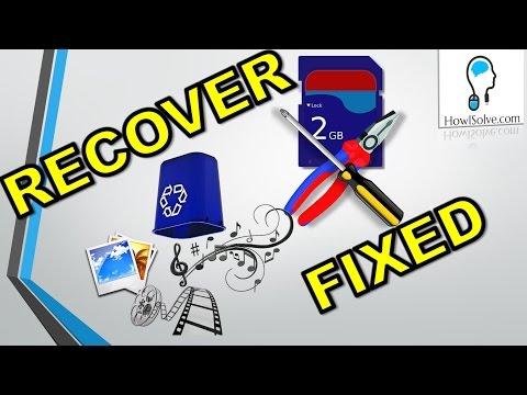 Recover & Fix: Blank / 'Damaged SD Card' Error