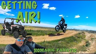 Getting Big Air & FREAKED OUT At Race Track