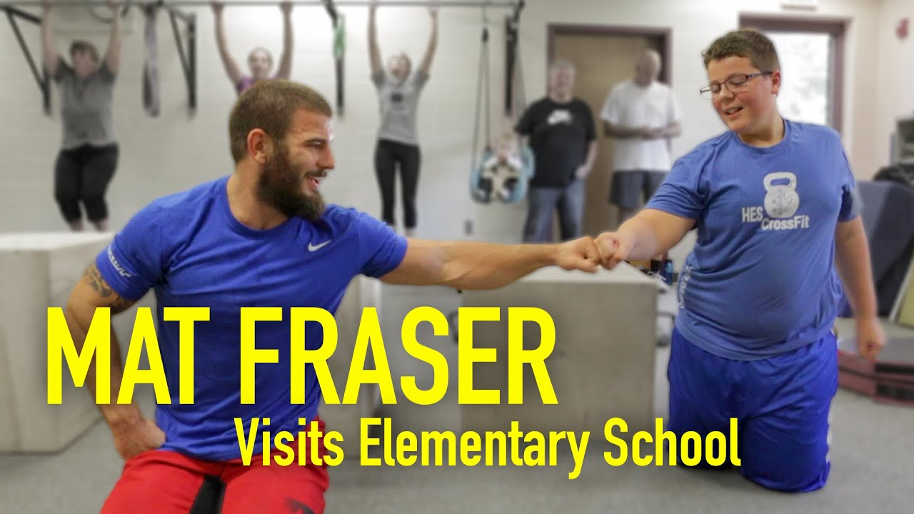 Mat Fraser Visits Elementary School | Fittest Man on Earth
