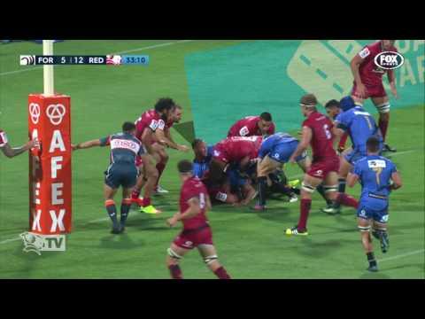 St.George Queensland Reds v Western Force scoring plays