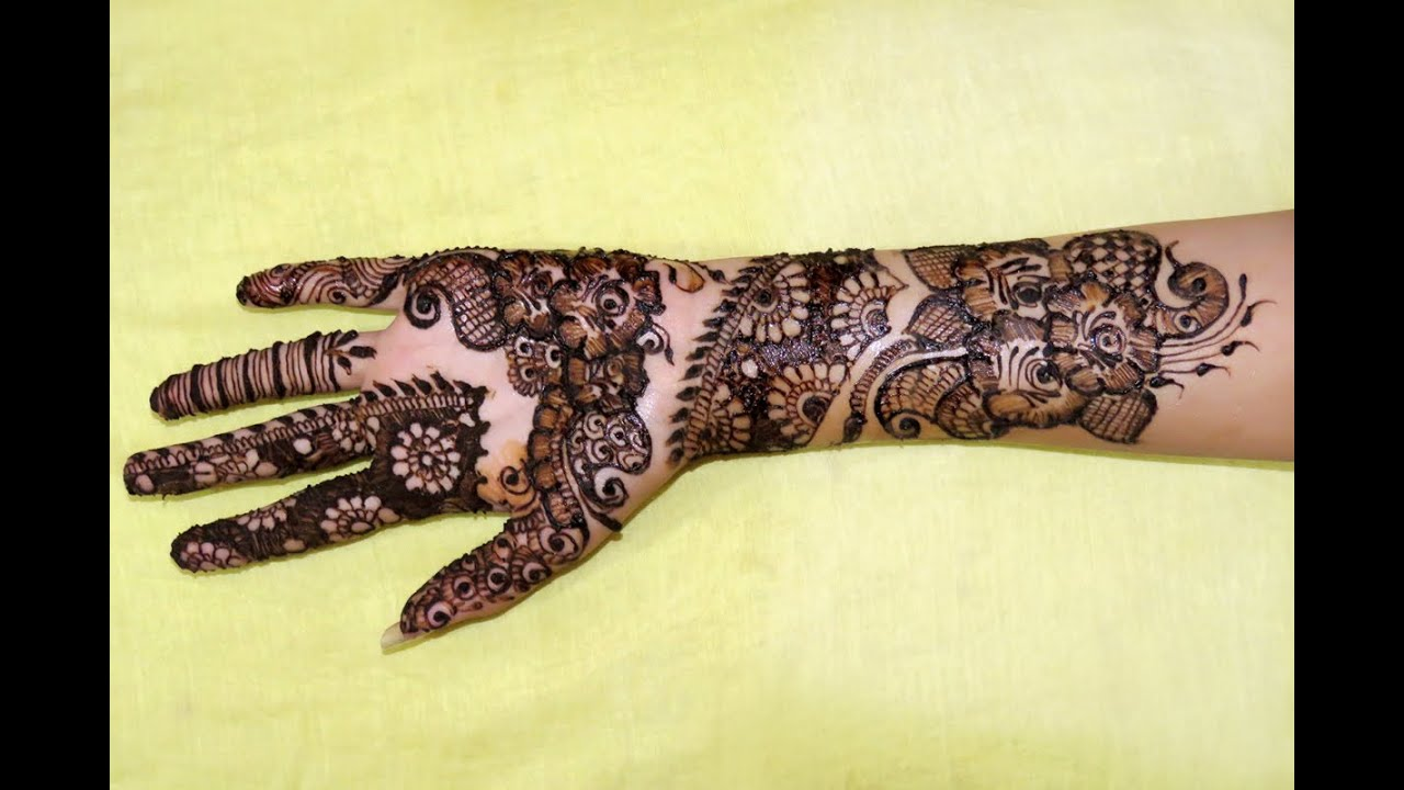 Easy Simple Floral Arabic Henna Mehndi Designs For Hands By Jyoti