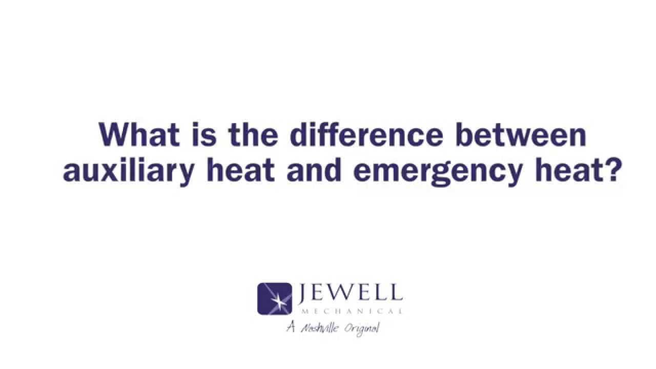 What Is Auxiliary Heat >> What Is The Difference Between Auxiliary Heat And Emergency Heat