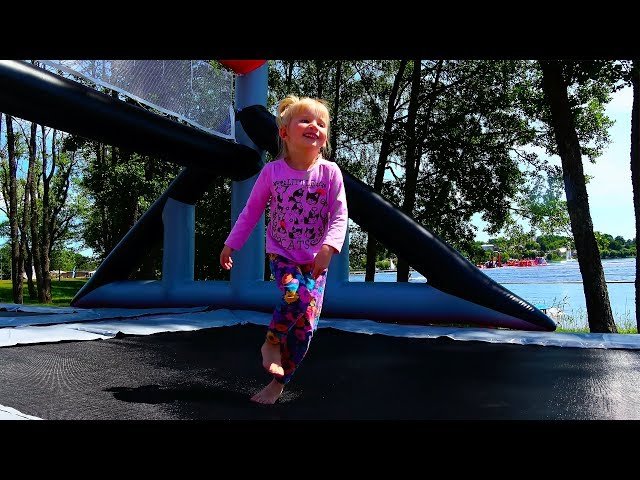 Outdoor Playground for children Amusement park Funny playtime with Alina