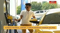 Harga petrol, diesel di bawah paras siling