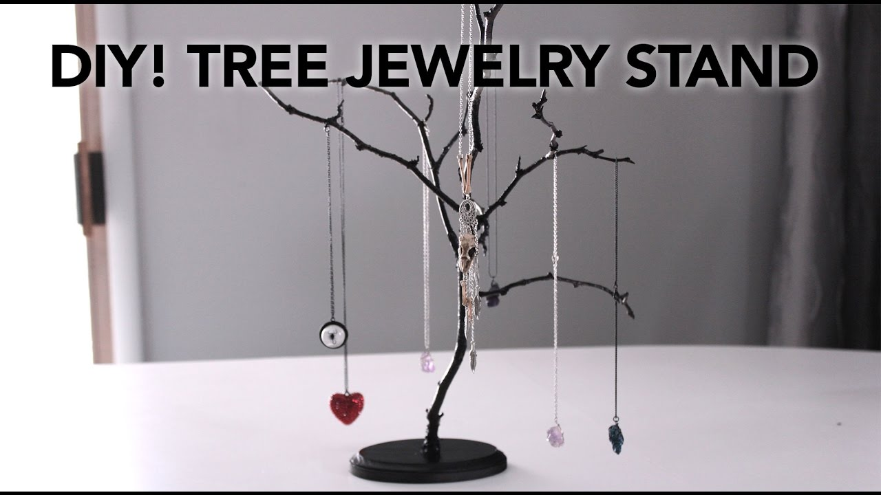 DIY Easy Tree Jewelry Stands In Under 20 Minutes For 10 YouTube