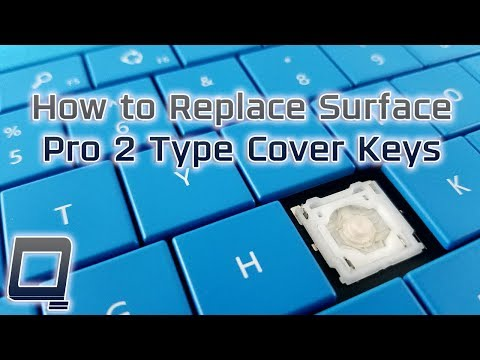 How to Replace Surface Pro 2 Type Cover Keys