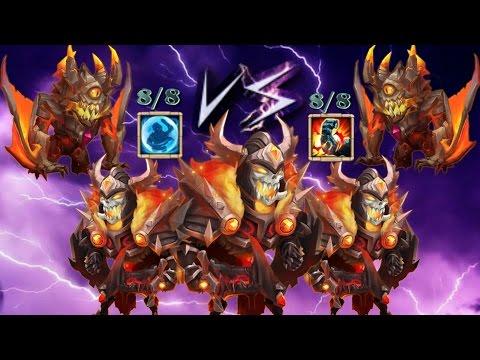 Castle Clash 8 Stone Skin Ghoulem & 8 Bulwark Ghoulem Vs Sk