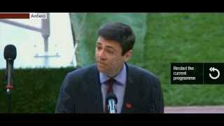 Andy Burnham MP Hillsborough 25th Anniversary