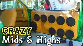 Painfully LOUD Mids & Highs & Clean Car Audio Installs @ SBN 2012 - Pro EV Speakers Tweeters & Horns