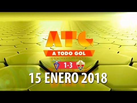 A TODO GOL | CF Badalona 1-3 Elche CF | Entrevista a Collantes | 15-1-2018