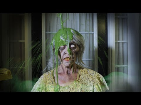Granny Horror Game IRL ESCAPE and Slimed Granny Episode 5 in real life