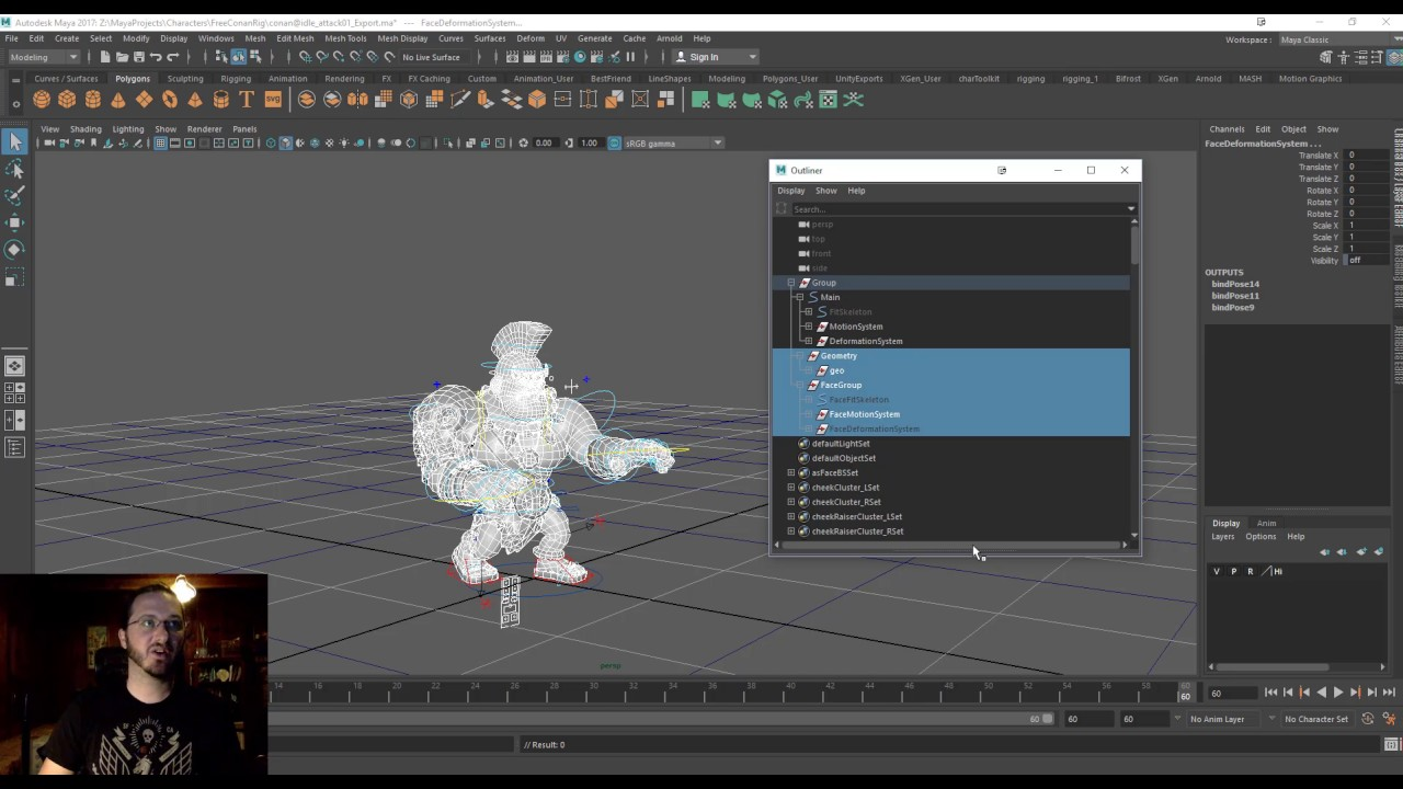 Video:Maya to Unity – Referenced (Advanced Skeleton) Rig