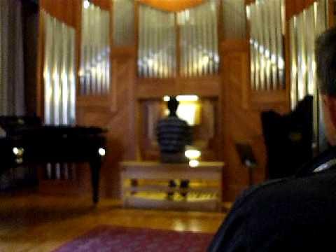 saggio organo 2010 istituto musica sacra Treviso