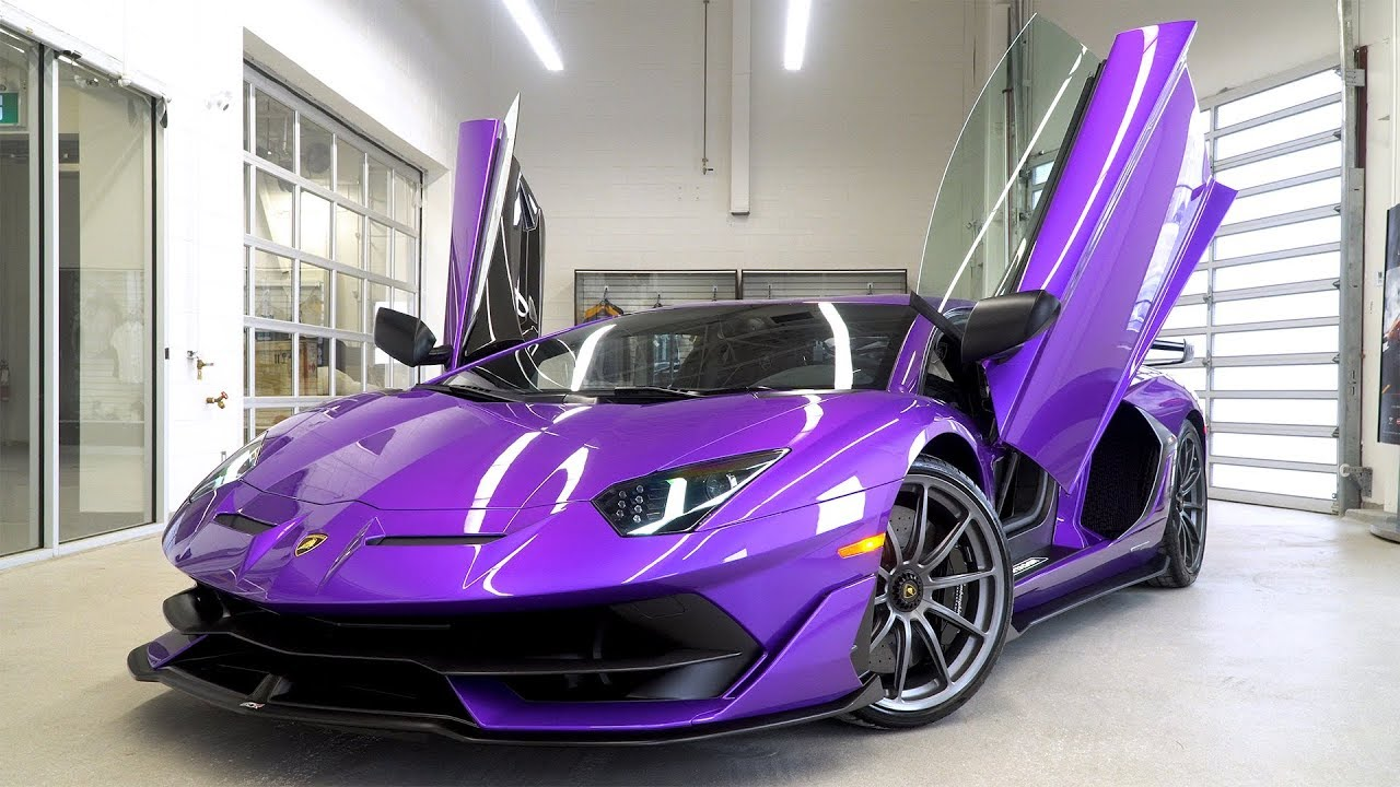This Is The 2019 Lamborghini Aventador Svj In Viola Pasifae
