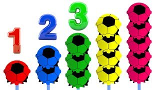 Learn Colors Numbers for Babies with Soccer Balls Lollipops Kids Children Toddler Educational