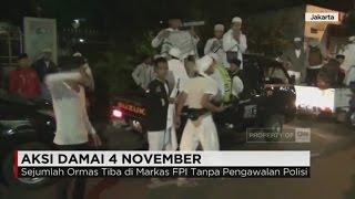 Sejumlah Ormas Tiba Di Markas FPI Jelang Demo 4 November Tanpa Pengawalan