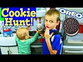 Giant PLAY KITCHEN 🍪 🍩 🎂  Oreo Cookies Hunt Cooking For Baby Adam 👶  Pretend Play  DisneyCarToys