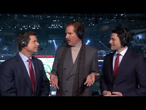 Angie Ward - Ron Burgundy Stays Classy Calling LA Kings Game!