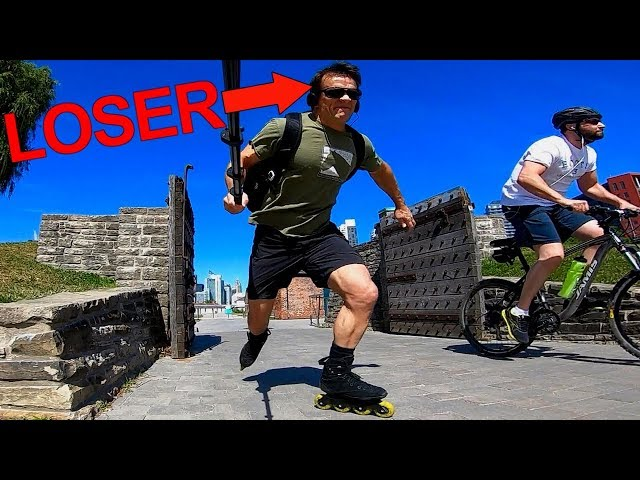 I Lost A RACE! Inline vs Bike
