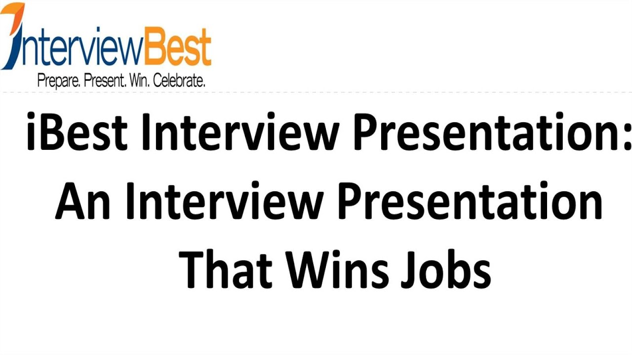 An interview presentation that lands a job youtube toneelgroepblik Images