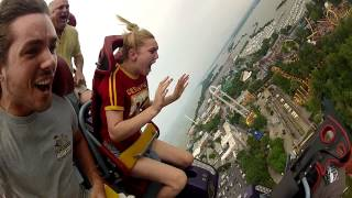 Stephanie Rides Top Thrill Dragster