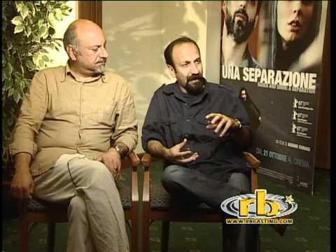 ASGHAR FARHADI, BABAK KARIMI  intervista Una separazione  WWW.RBCASTING.COM