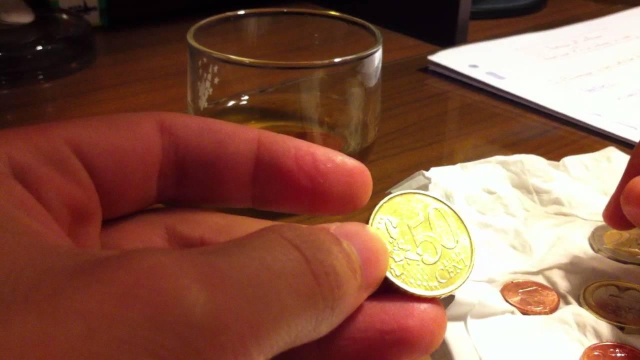 laver des pi ces de monnaie nettoyer ses pi ces avec du vinaigre youtube. Black Bedroom Furniture Sets. Home Design Ideas