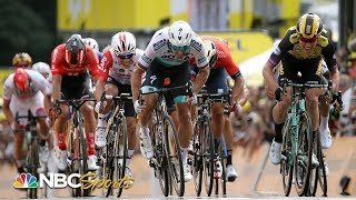 Tour de France 2019: Exciting Stage 1 finish after late crash | NBC Sports