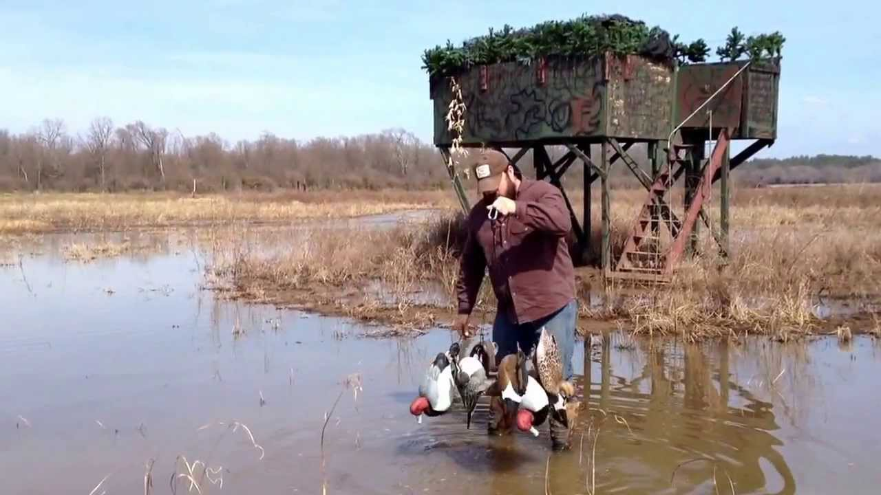 Swamp Rig demonstration for duck hunting and decoy handling - YouTube